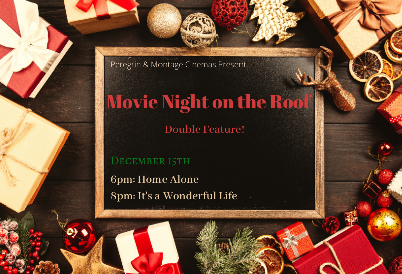 Christmas Movie night on the Roof